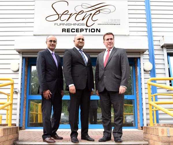 2 Raj Minhas (Maven Capital Partners UK LLP), Tasleem Tasab (Serene Furnishings) and Paul Brown (Black Country LEP and Midlands Engine Investment Fund)